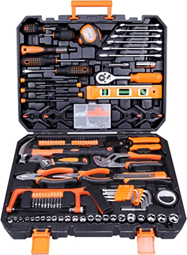 high quality CARTMAN Tool Set 168Pcs Orange General Household Hand Tool Kit outlet sale with high quality Plastic Toolbox Electricians Tools in Storage Case sale