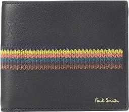 Embroidered Stripe Billfold Wallet