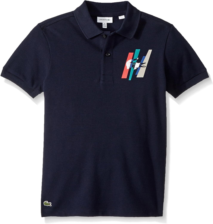 Lacoste Boy Short Sleeve Fancy Multicolor Line Polo