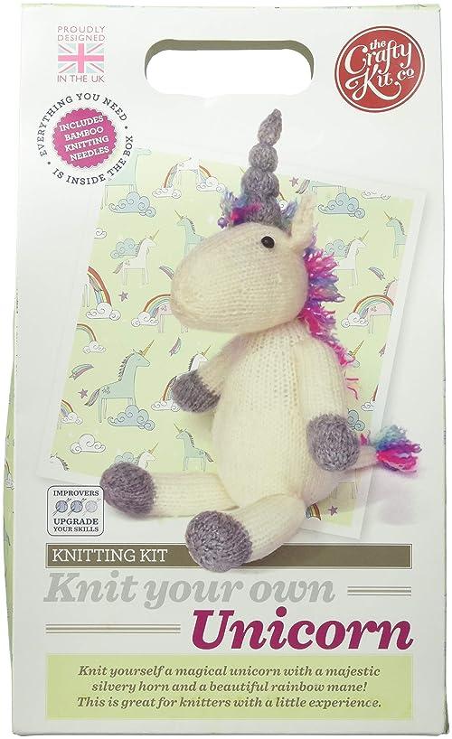 Crafty Kit Company CKC-KK-058 Knit Your Own Kit Unicorn