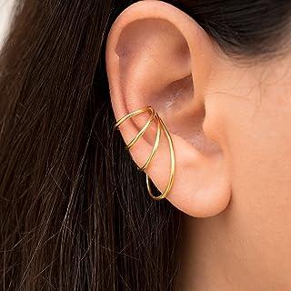 Pendiente del puño del oído minimalista, falso piercing oreja puño no piercing, puño pendiente earcuff puño de oreja no perforado puño de oreja pendiente, puño de plata, pendiente de Emmmanuela