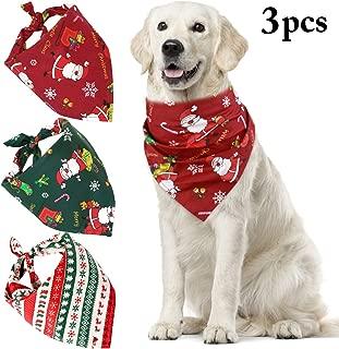 Legendog Dog Bandana, Christmas Bandana Drool Bibs Dog Scarfs Accessories for Cats Dogs