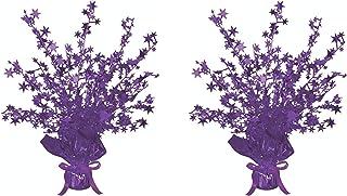 """Beistle, 2 Piece Star Gleam 'N Burst Centerpieces, 15"""" (Purple)"""
