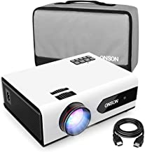 $299 » [2019 Upgrade] Mini Projector, 2800 Lux Portable Movie Projector with 50,000 Hours LED Lamp Life, Full HD 1080P Video Supported, Compatible with TV Stick, PS4, HDMI, VGA, TF/SD Card, AV and USB