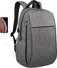 Tigernu Travel Laptop Backpack School Backpacks with USB Charging Port Business Computer Bag Water Resistant Bookbag for College Office Daypacks Men Women fit 15.6 Inch Macbook