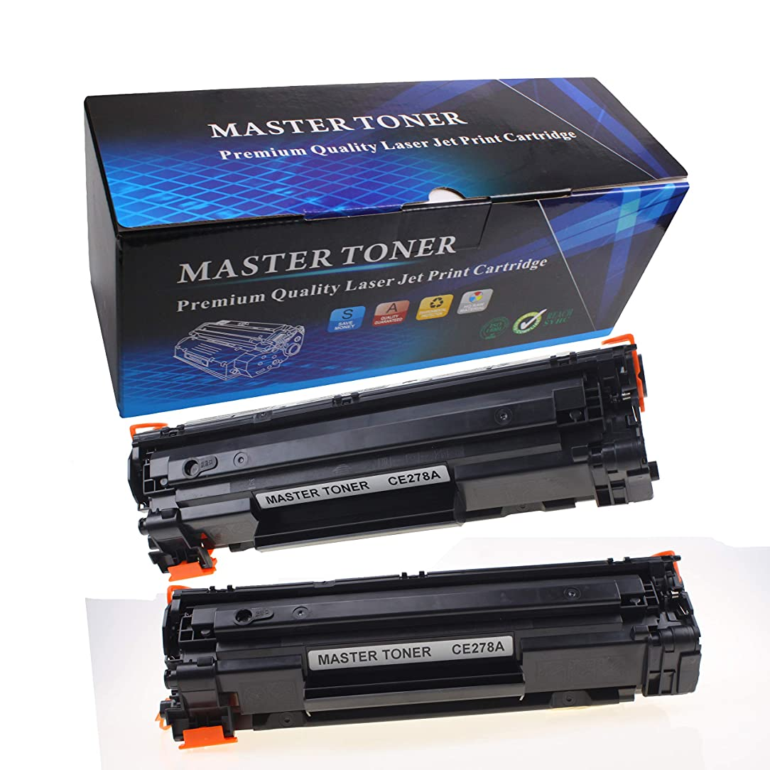 YEAHTOP Toner CE278A 78A Toner Cartridge Replacement for HP Laserjet P1606dn 1606dn HP Laserjet M1536dnf 1536dnf MFP HP Laserjet P1566 P1560 Toner Cartridge Printer Toner (Black,2-Pack)