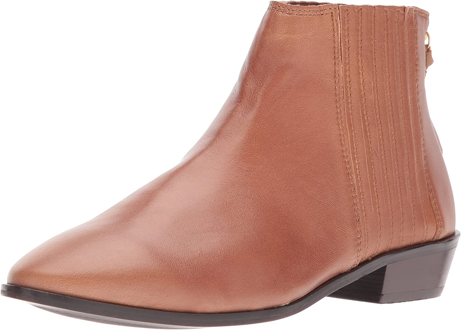 Kenneth Cole REACTION Womens Loop-y Flat Ankle Bootie Finger Gusset Leather Ankle Bootie