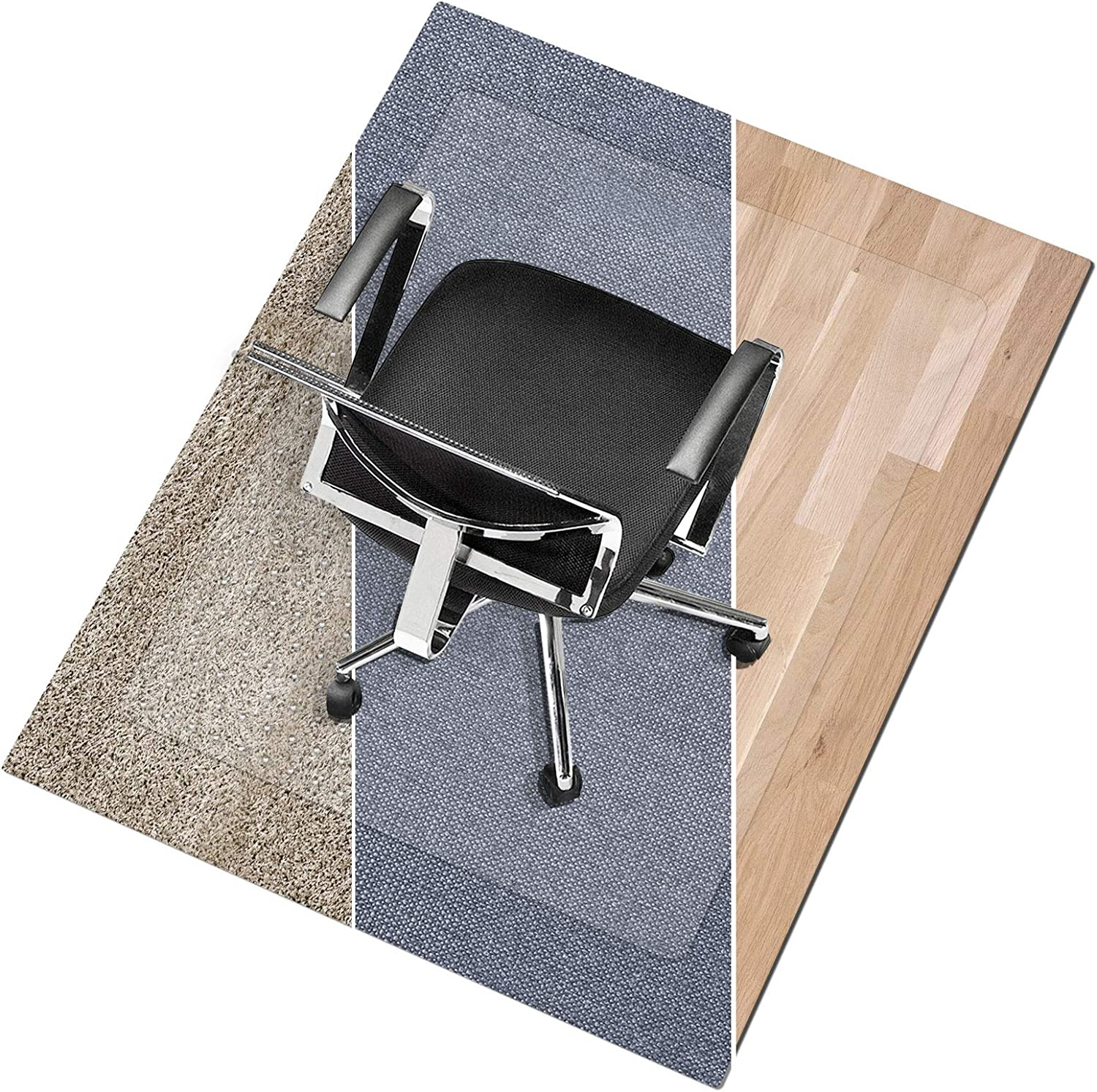 POHOVE Chair Mat For Carpet Floors Protection Office Chair Computer Chair Multiple Transparent High Impact Strength