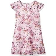 GUESS Girls' Little Short Sleeve Pinky Flower Printed Dress