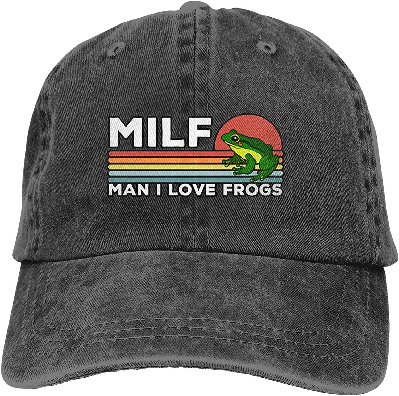 Man I Love Frogs. Cowboy Hat Classic Baseball Cap Men and Women Outdoor Sun Hat Trucker Dad Hat Black