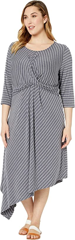Plus Size Clara 3/4 Sleeve Wrap Front Dress