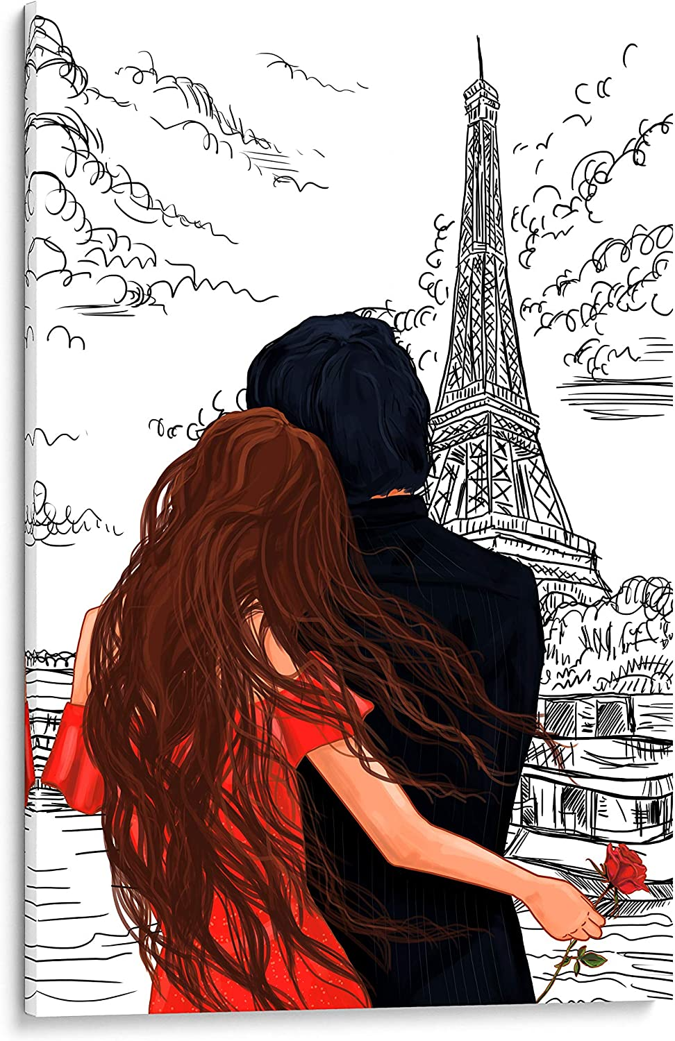 Limited time sale 4 years warranty INTALENCE ART Romantic Paris Eiffel Decor Picture Art Wall Tower