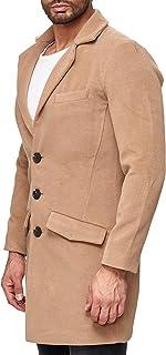 Red Bridge Men's Winter Coats Slim-Fit Business Parka Detective Casual Long Trenchcoat