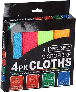 Royalford Microfiber Towel, Multi-Colour, RF7570, 4 Pieces