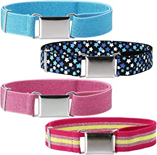 4pc Toddlers Mixed Design Adjustable Buckle Clasp Elastic Easy Belts