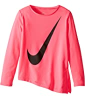 Nike Kids - Dri-Fit Long Sleeve Side Slit Top (Little Kids)