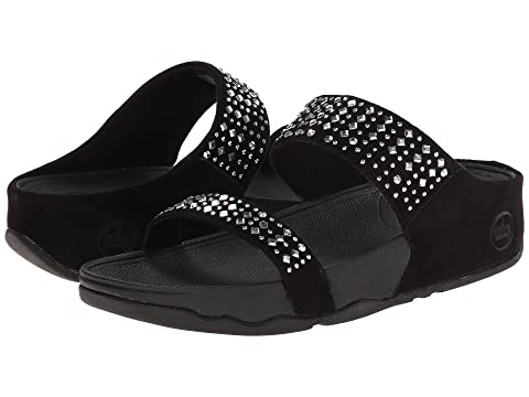 FitFlop Novy Slide Black Sandals - Women