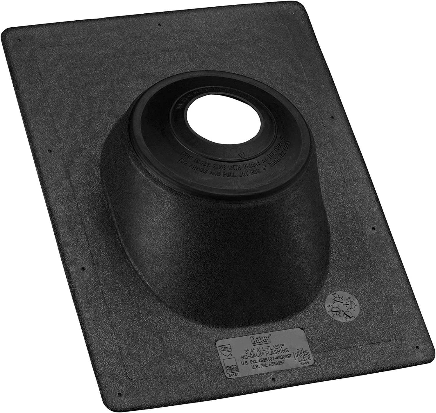 store Oatey 11919 ThermoPlastic Base Flashing 1.5-Inch-3-Inch Gray Max 85% OFF