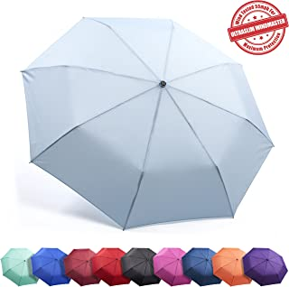 Unbreakable Travel Umbrella Wind Tested 55MPH, Beware of Knockoffs, Innovative & Patent Pending, Auto Open Close, Won't Break If Inverted, Durability Tested 5000 Times