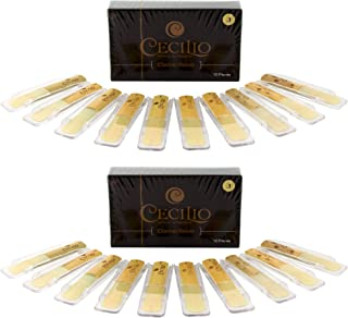 Cecilio Clarinet Reeds, Two Boxes of 10 (Total of 20 Reeds) (Strength: 3.0)