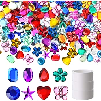 Assorted Moon Star Theme Playscene Craft Jewels with Adhesive Back