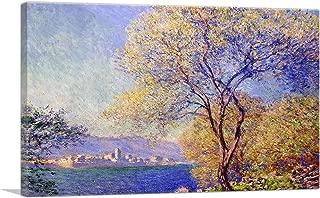ARTCANVAS Antibes Seen from The Salis Gardens Canvas Art Print by Claude Monet - 12