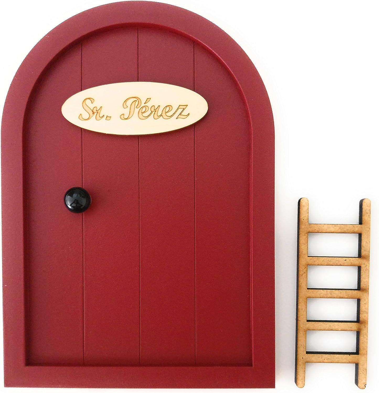 Ratoncito P/érez Mini-porte de souris adh/ésive avec escalier et paillasson Moderne 12/_x/_17/_cm fuchsia