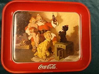Vintage 1986 Santa, Children, & Poodle Coca Cola Tray