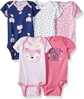 Baby Girls' 5-Pack Variety Onesies Bodysuits