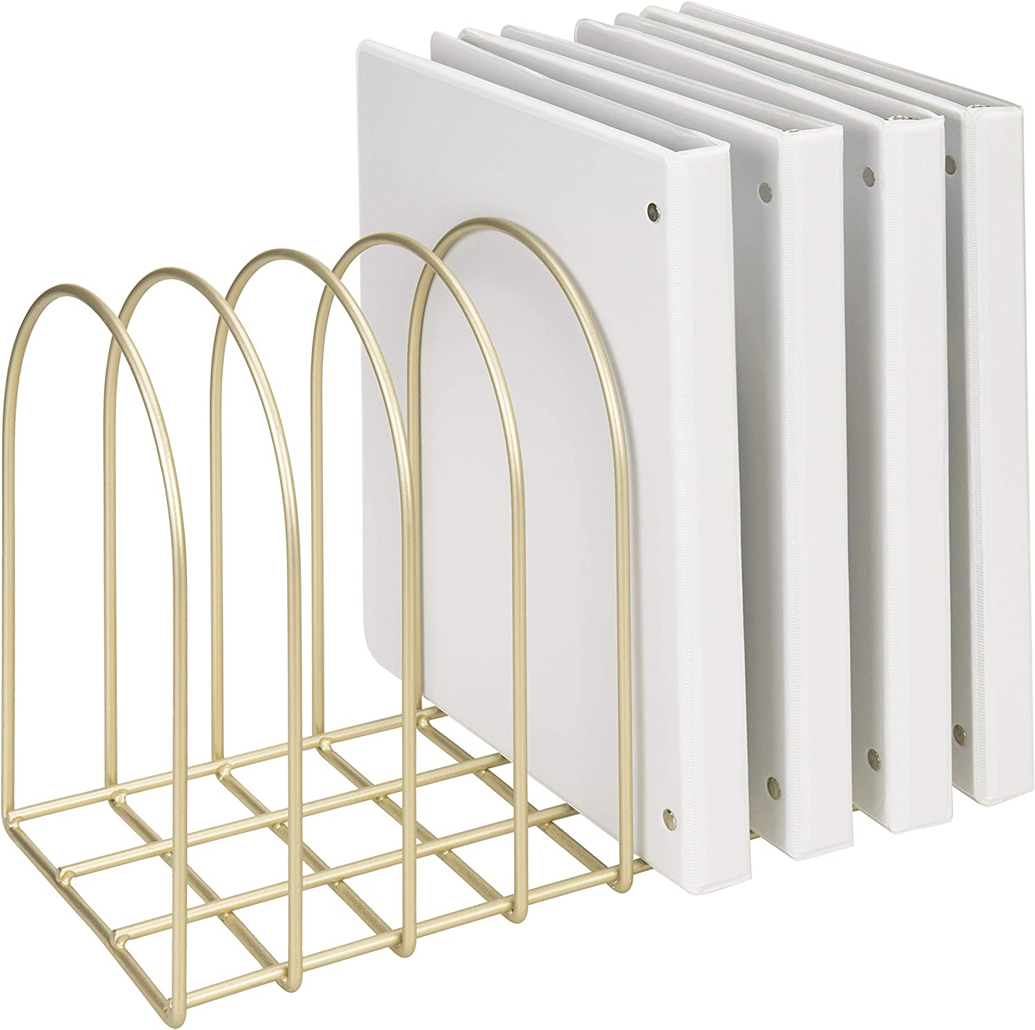 MyGift Vintage Brass Don't miss the campaign Toned Metal Wire quality assurance 8-Slot Desktop Arch File F
