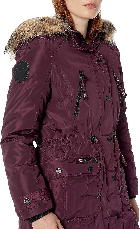 CANADA WEATHER GEAR Damen Parka Jacket Daunenalternative, Mantel Cranberry Cranberry
