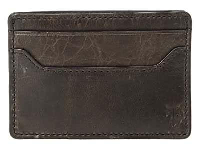 Frye Logan Money Clip Card Case (Slate Antique Pull-Up) Credit card Wallet