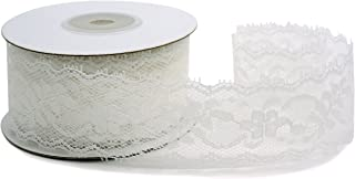 Delicate White Lace Ribbon, 1.5 inch (35mm) X 10 Yards, Floral Lace Trimming Bridal Wedding, Table Tops, Card Boxes, Gift, Sewing, Baby Shower.