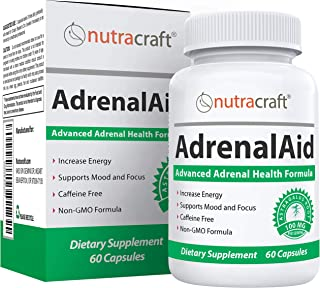 AdrenalAid Advanced Adrenal Health Support Supplement - Unique Natural Complex Including Ashwagandha, Ginse...