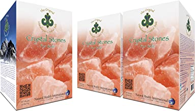 Original Himalayan Crystal Salt Stones for Sole - Increase Hydration, Energy, Vibration, Cellular Communication and Replenish Electrolytes with 84 Trace Minerals (3 Pack)