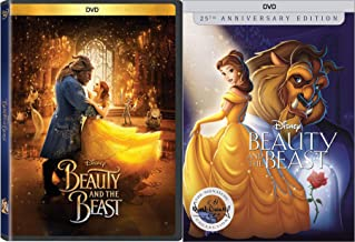 Tale as old as time Double Classic Disney Beauty & The Beast Animated Feature DVD + Live Action Musical Movie Feature fun pack bundle set