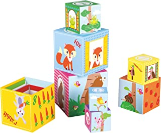 Fat Brain Toys Woodland Friends Stacking Cubes Baby Toys & Gifts for Babies