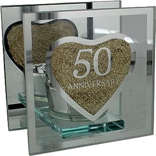 Portavelas de regalo de ukgiftstoreonline, conmemorativo del 50 aniversario de boda (bodas de oro)