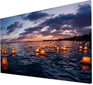brightmaison Nature Collection Extra Large Canvas Wall Photo Art (Floating Lantern)
