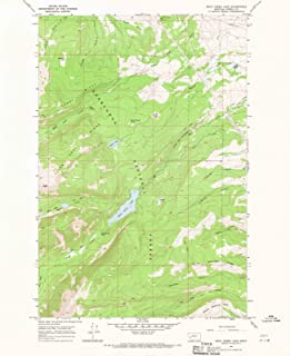Montana Maps - 1967 Rock Creek Lake, MT USGS Historical Topographic Map - Cartography Wall Art - 35in x 44in
