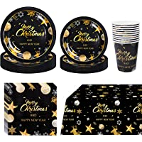 PartyBloom 81PCS Christmas Dinnerware Set Deals