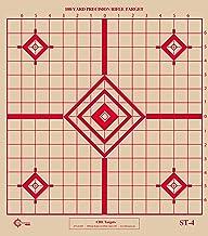 ST-4 Rifle Sighting Target, 100-Yard Precision Rifle Target, Shooting Target, Tag Board