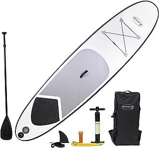 Blue Water Toys 白色闪电充气 SUP 套装充气站立式划桨板,304.8 cm