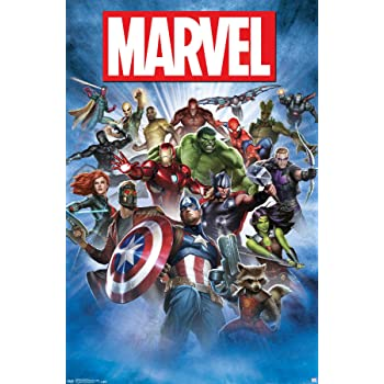 "Trends International Marvel Group Shot Wall Poster 22.375"" X 34"""