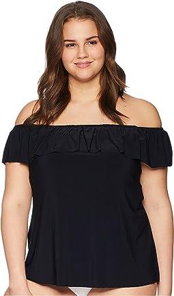 Plus Size Solid Kris Tankini Top