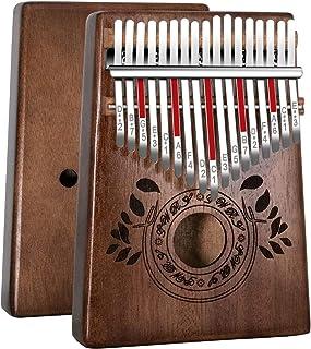 Kalimba 17 Clés Pouce Piano, Portable pouce doigt, bois africain de haute qualité, Mbira avec accordeur, sac de piano, man...