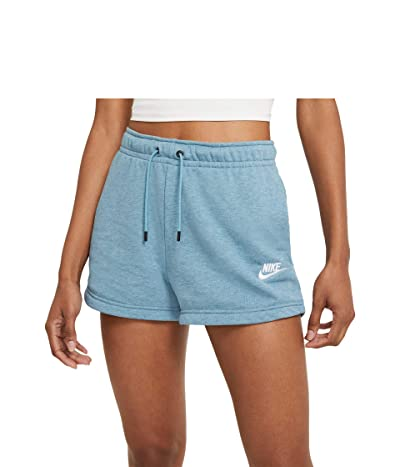 Nike NSW Essential Shorts French Terry (Cerulean/Heather/White) Women