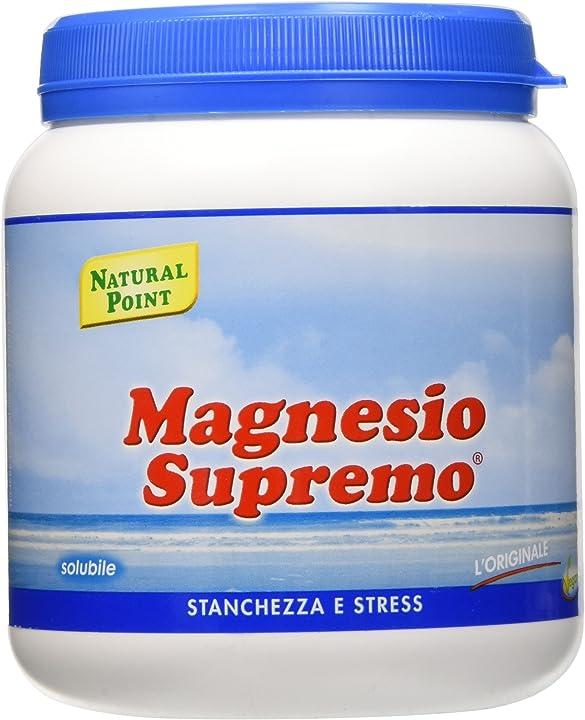 Natural point magnesio supremo solubile - 300 g, polvere 8055732260019