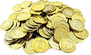 "Amscan Party Favors Coin Mega, 10 1/4"" x 7 1/4"", Gold"