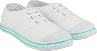 Rex Unisex Canvas PVC School/PT/Casual/Formal/School Wear Skin fit Lace Up White Shoes